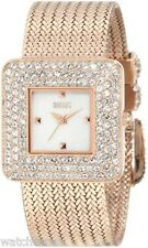 Badgley Mischka Women's BA/1196MPRG Swarovski Crystal Rosegold-Tone Mesh Watch