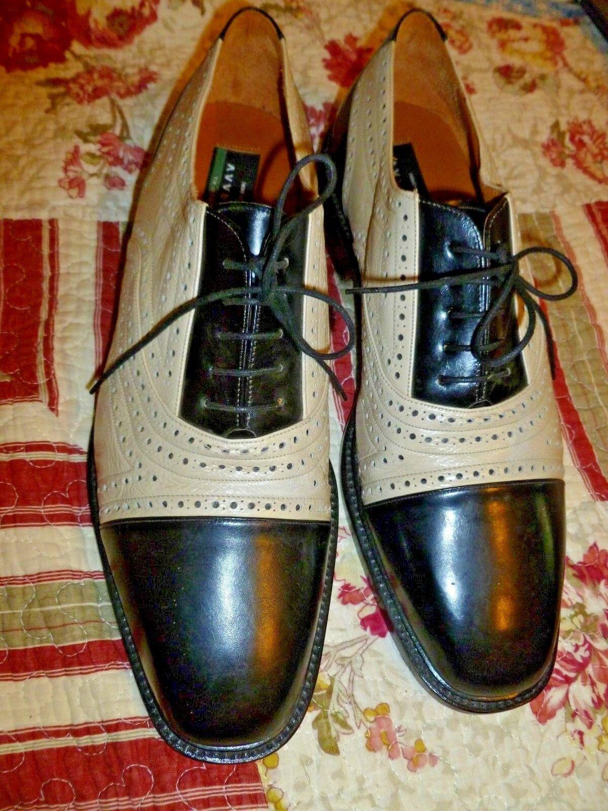 Uomo Avventura 2 tone Leather Cap Toe Oxford Shoes. Size 12