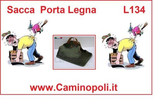 Portalegna in Tela da Camino Pratica Sacca Borsa per Porta Legna   Caminopoli.it