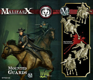 Malifaux-Guild-Mounted-Guards-box-set-Wyrd-miniatures-32-mm-new