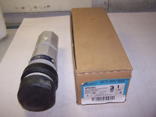**NEW IN BOX** CROUSE-HINDS NPR3464 30-Amp PIN/&SLEEVE ARKTITE CONNECTOR 30A 600A