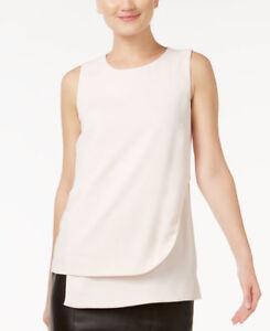 Alfani-PRIMA-Sleeveless-Layered-Shell-Blouse-Blush-Beige
