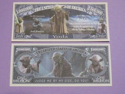STAR WARS Movie Jedi Master Yoda Empire Strikes ~ $1,000,000 One Million Dollars