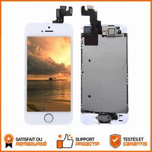 Kit-Complet-Pour-iphone-5S-NEUF-Ecran-LCD-Tactile-Bouton-Camera-BLANC-BIEN-TESTE