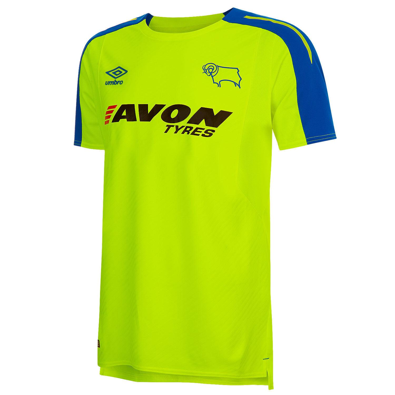Derby County Auswärts Shirt Kurzarm Kurzarm Kurzarm Sport Oberteil T-Shirt 2017 18 Herren Umbro  | Online-verkauf  | Schöne Farbe  | Neu  7bddcd