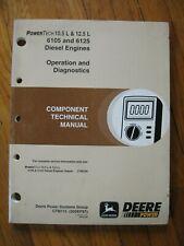 John Deere 105 125 6105 6125 Engine Technical Manual 9200 9300 9400 6850 6750