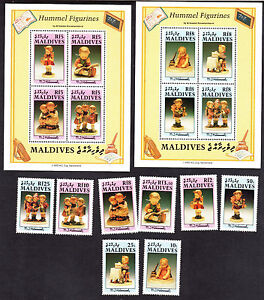 Maldives-Sc-1543-52-M-NH-complete-set-set-8-2-sheets-Cv-28-60