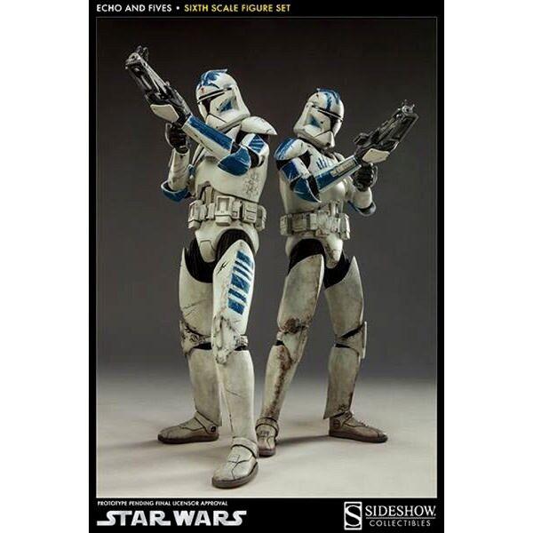 punto de venta Sideshow ejércitos STAR WARS WARS WARS ECHO & FIVES 501st Clone Trooper Set  servicio considerado
