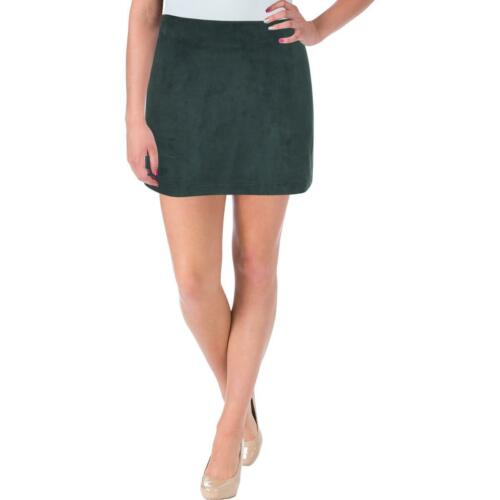 French Connection Womens Patty Green Faux Suede Party Mini Skirt 0 BHFO 3434