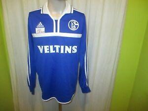 FC-Schalke-04-Adidas-Langarm-Spieler-Version-Trikot-2000-01-034-Veltins-034-Gr-M-Neu