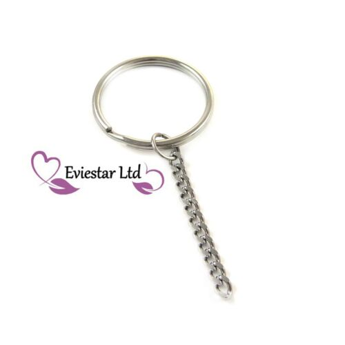 Key chains 304 Stainless Steel G95 Keyrings Double Split Ring with Chain
