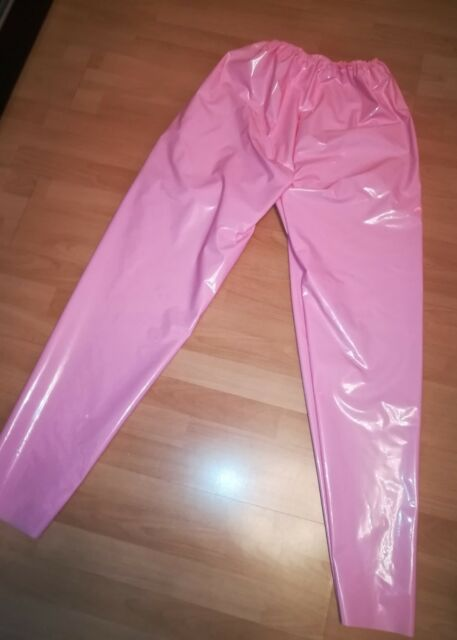 Adult baby Sissy Pantaloni In Gomma PVC VERNICE pantaloni pantaloni sportivi unisex in gomma plastica TROUSERS