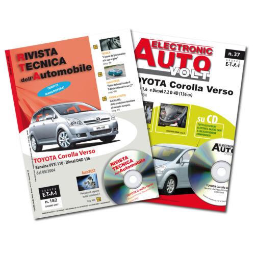 1Manuale tecnico riparazione//manutenzione+1Manuale Diagnosi Toyota Corolla Verso