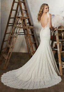 Morilee 8104 Macy Bridal Wedding Dress Lace Fit Flare Fitted Cap Sleeve Low Back Ebay,Occasion Dresses For Wedding Guests Plus Size