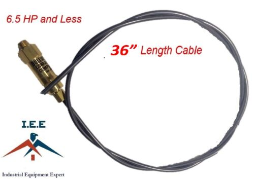 """New Throttle Control Cable for Gas Air Compressors Bullwhip 36/"""" Conrader USA"""