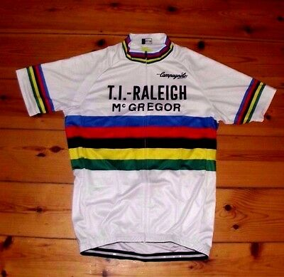 Brand New Team Ti-Raleigh Campagnolo cycling Jersey Record