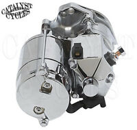 Ultima Thunder Fire Chrome 1.75kw Side Post Starter For Harley Evo & Twin Cam