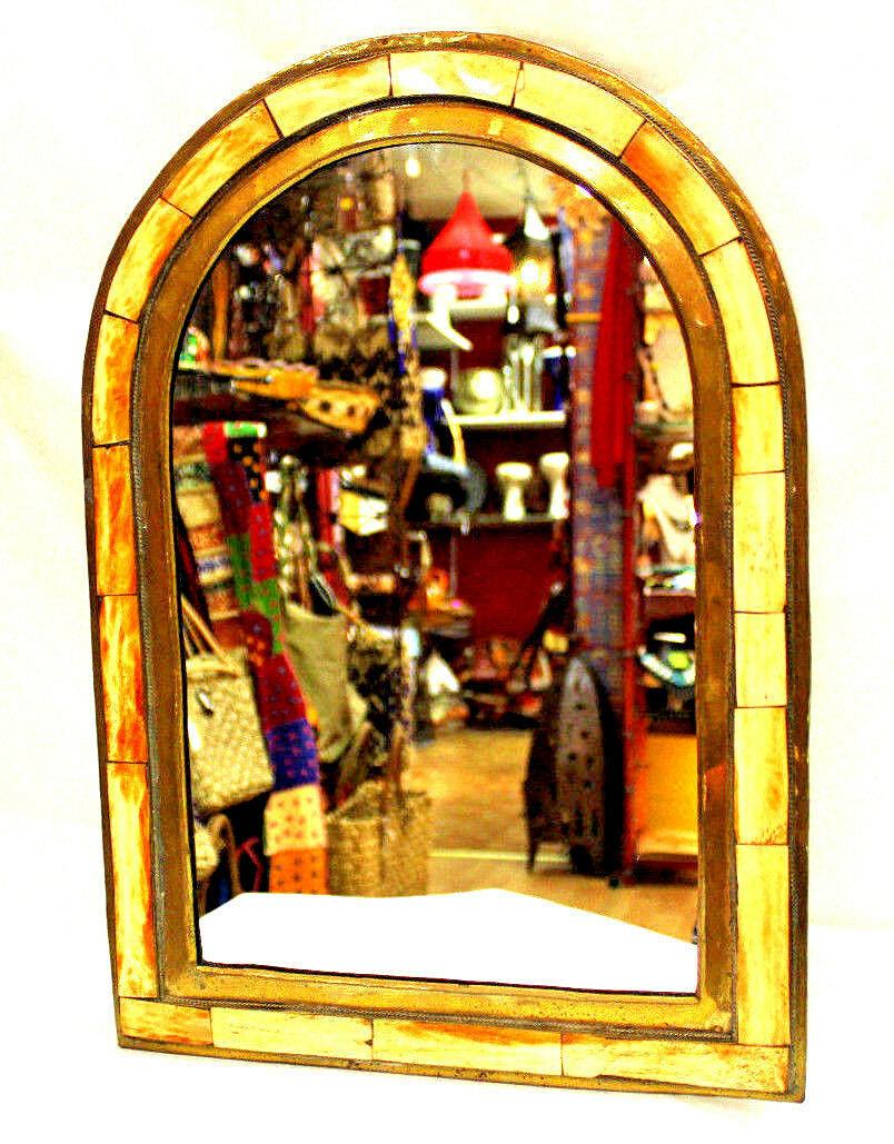 Beautiful Arch Mirror Classy MGoldccan Gelb Camel Bone Wall Decor Nice Gift