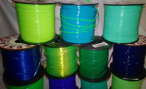 15 Blues /& Greens Mix ~ 4 YD Each ~ 60 YDs Rexlace Gimp Plastic Lace NO SPOOLS