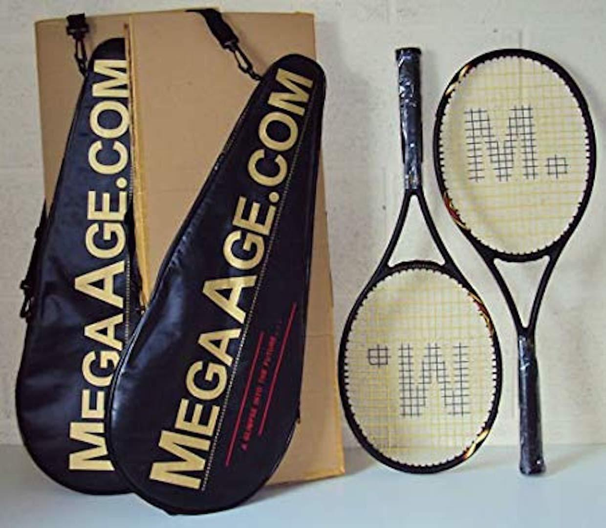 EXCELLENT VALUE TENNIS RACQUETS - 'MegaAge' - BRAND NEW - (USA made) - RRP-+