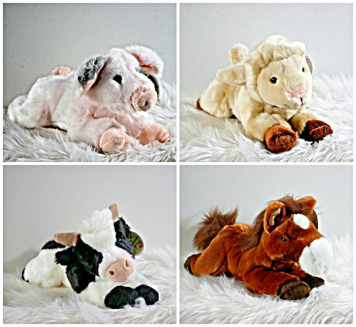Plush Super Soft Toys Cute Baby Animals Farm Animals 20cm Toddlers Stuffed Toy