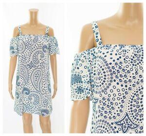 ex-M-amp-S-Bardot-Print-Swing-Beach-Casual-Summer-Dress