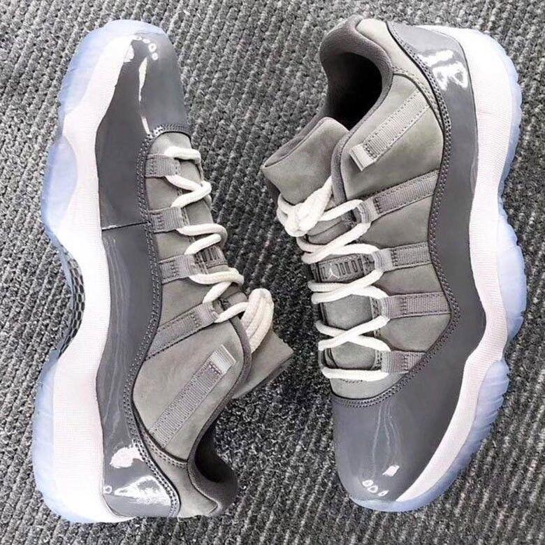"""air jordan 11 low """"cool grey"""" size 10.5 & 11"""