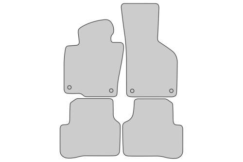 Exclusive Line Fußmatten für VW Passat B6 B7 3C Variant Kombi Limo Bj.2005-2014