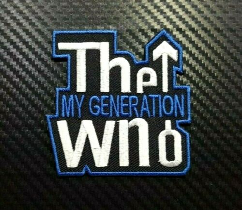 THE WHO ROCK MUSIC METAL WOVEN BAND HEAVY Embroidered Iron Sew On Patch Logo