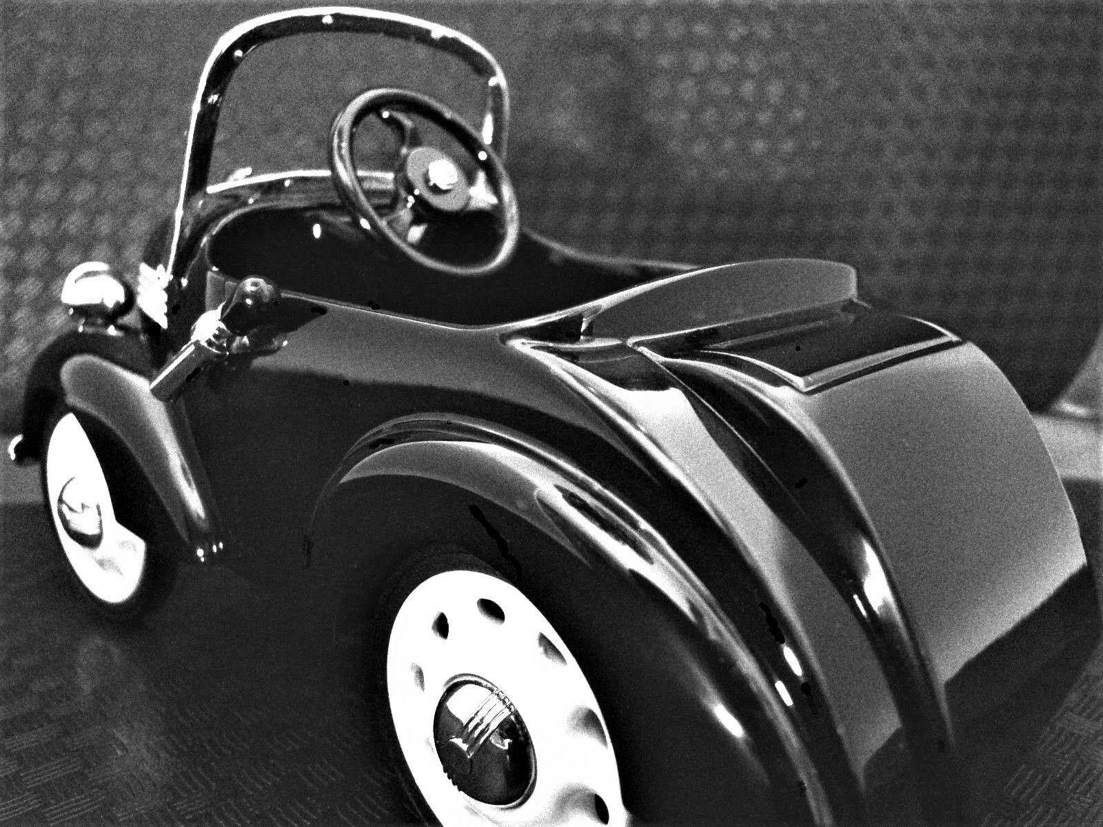Chevy Auto A Pedal 1930 Negro metal vintage coleccionista     leer la descripción completa página