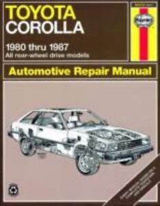 haynes manuals toyota corolla 1980 1987 no 961 by john haynes and rh ebay com 1995 Toyota Corolla Repair Manual 1995 Toyota Corolla Repair Manual