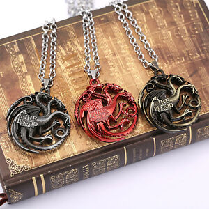 Game-of-Thrones-House-Targaryen-Dragon-Alloy-Necklace-Neck-Chain-Pendant-Gift