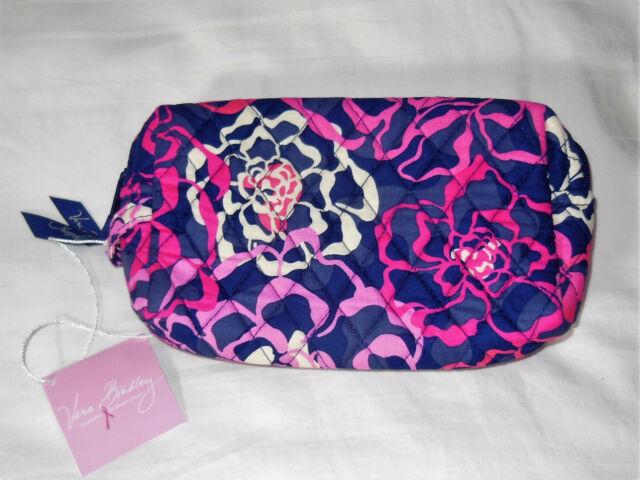 Nwt Vera Bradley Medium Cosmetic Bag Case In Katalina Pink 14549 330