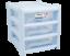 Plastica-CASSETTO-poco-profonde-Tower-STAND-Office-Home-da-cucina-contenitore-di-stoccaggio-Holder miniatura 6