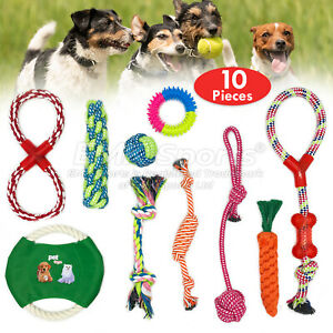 ROPE-TOYS-DOG-PET-PUPPY-TEETHING-ASSORTED-CHEW-TOYS-UK-STOCK-SETS-10-PIECES