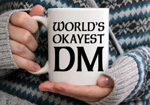 Image Is Loading World 039 S Okayest Dm Mug Dungeons And