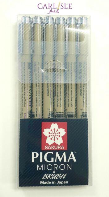 Sakura - Pigma Micron Pens - Black 6 Pack