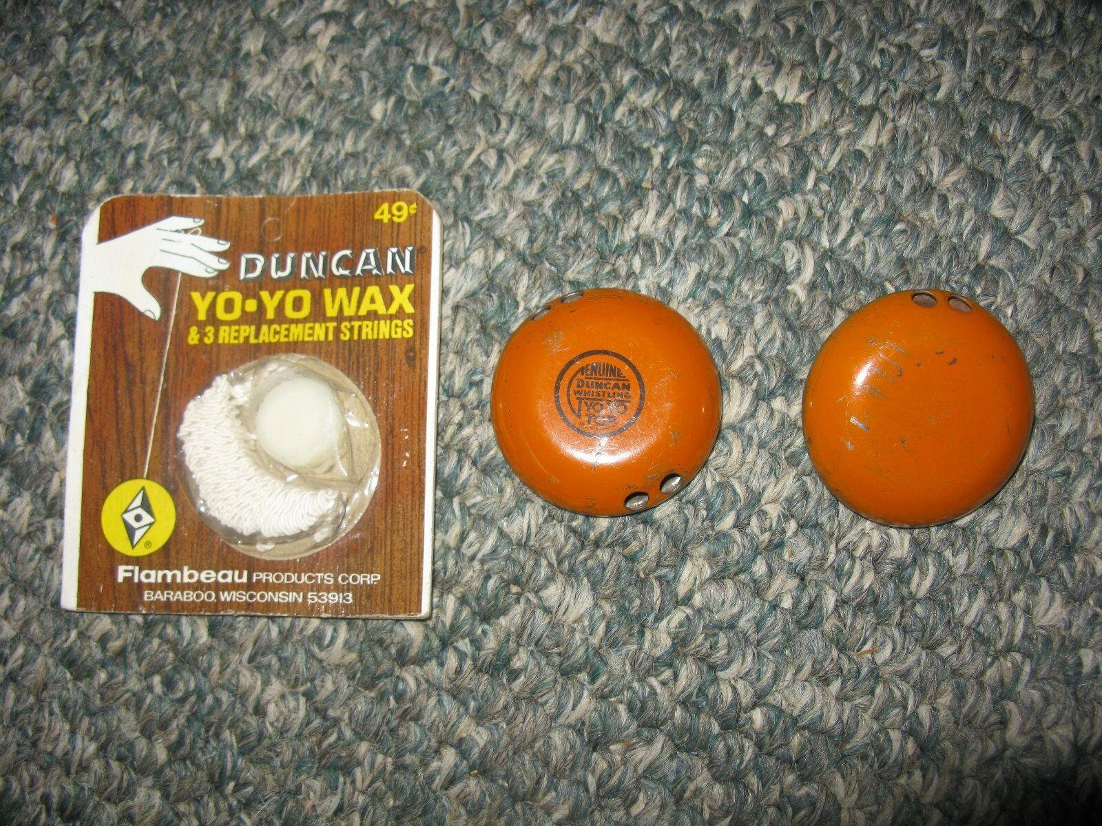 Vintage - yo - yo, string und wachs