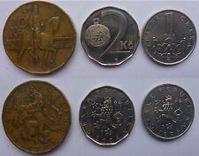 Repubblica Ceca Česká Republika 3 monete 3 coins - 20, 2 corone korun 1 koruna