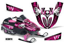 SIKSPAK Arctic Cat Sno Pro 120 Sled Wrap Snowmobile Graphics Kit All REBIRTH PNK
