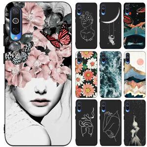 Pour Samsung Galaxy M30 M10 A30 A40 A50 Slim Silicone Souple peint TPU Case Cover