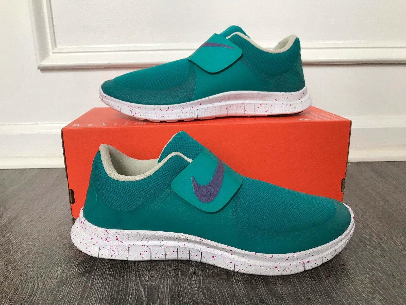 Nike Free Sockfly  Sample  Teal Purple Running shoes shoes shoes 724851-305 Men's 10 NEW 6e4eef