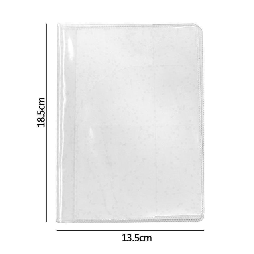 Transparent And Scrub Passport Cover Travel ID Holder 13.5*18.5cm Case Q8V8 F9K2