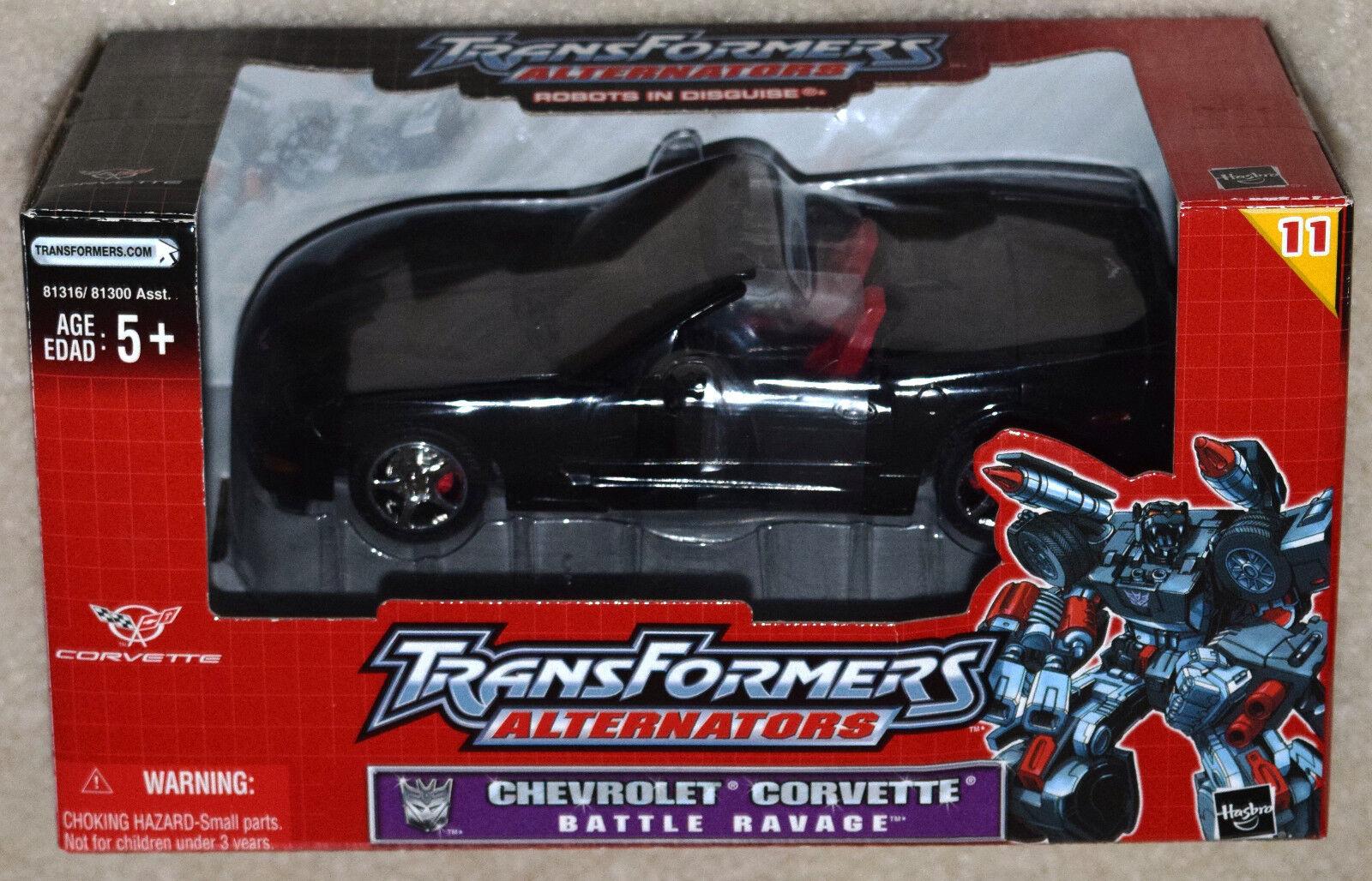 Hasbro Transformers Alternators Chevrolet Corvette Battle Ravage Figure (MIOB)