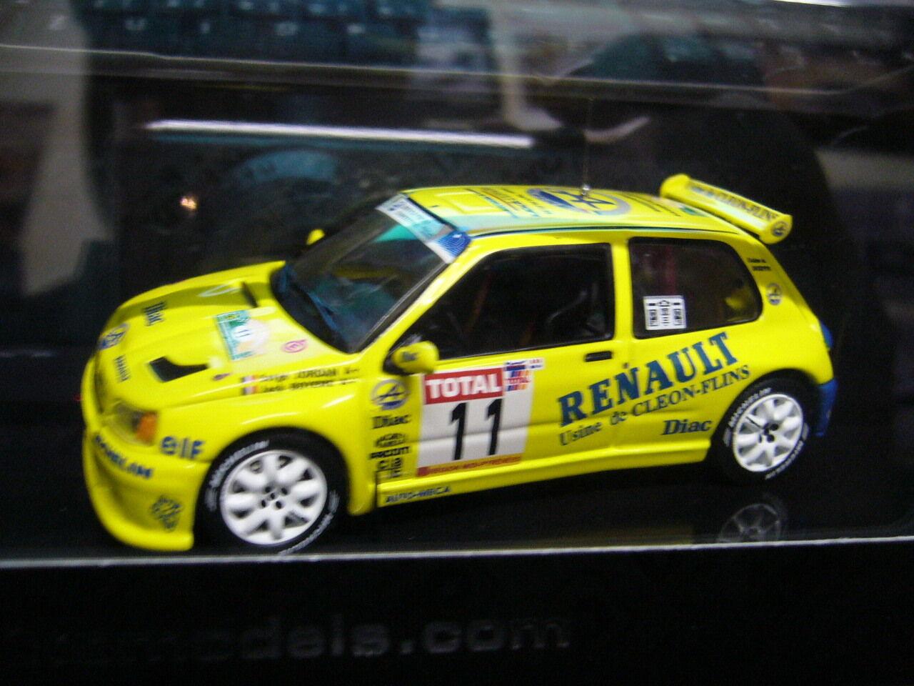 RENAULT Clio Maxi Rallye Kitcar Rallye Rouergue  11 Jordan 1995 NEU  IXO 1 43  | Deutsche Outlets