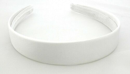 White Wide Satin Alice Band IN9013