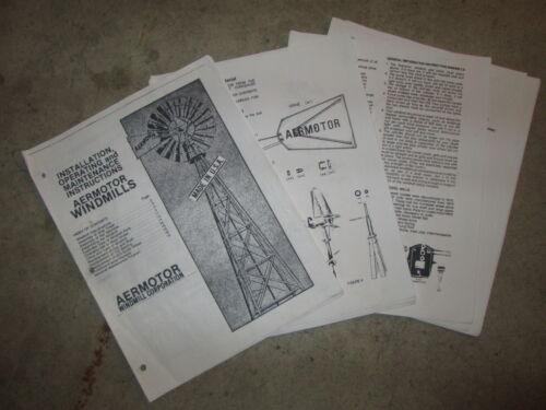 Aermotor 702 Windmill Assembly Manual