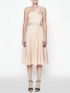 FCUK-French-Connection-Cecil-Drape-Pink-Apricot-Spritz-Asymmetric-Cocktail-Dress
