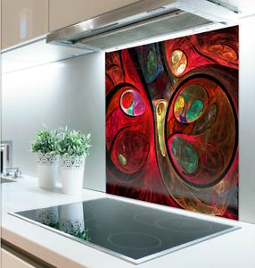 90cm x 80cm Digital Print Glass Splashback Heat ResistantTough<wbr/>ened 87366841.