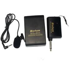 6.3mm Mini Inalámbrico transmisor FM Receptor Lavalier Solapa Broche Mic Sistema